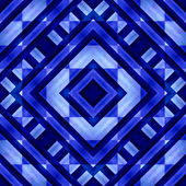 Blue Geometric Abstract Background — Stockfoto