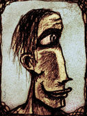 Homem primitivo — Fotografia Stock