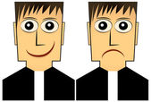 Cool Young Priest Vector Illustration — Stock Vector