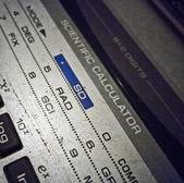 Vieja calculadora científica desperdiciada — Foto de Stock