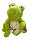 Plush Frog in White Background. — Stock Photo