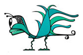 Fantasy Bird Illustration — Stock Photo