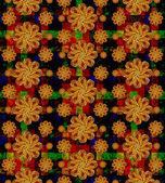 Multicolored Stars Motif Pattern — Stock Photo
