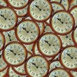 Vintage clocks pattern — Stock Photo