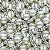 Pearl Jewelry Background. — Stock Photo
