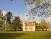 Old Church in a village — Stock Photo