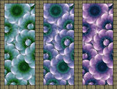 Floral Triptych Deco Wall — Stock Photo