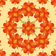 Digital Floral Pattern — Stock Photo