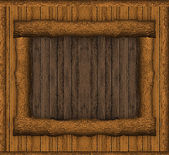 Rustic Wood Art Wall — Stock Photo