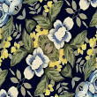 Fabric Floral Decorative Background Pattern — Stock Photo