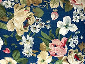 Fabric Floral Decorative Background — Stock Photo