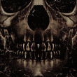 Foto Stock: Skull Poster Background