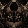 Stockfoto: Skull Poster Background