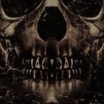 czaszka plakat tło — Zdjęcie stockowe