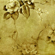 Floral Deco Grunge Background — Stock Photo