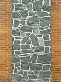 Murs de brique et de texture pierre — Photo