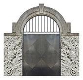 Cancello antico isolato — Foto Stock