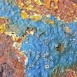 Multicolored Rusty Texture — Stock Photo