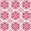 Ceramic Pink Floral Pattern — Stock Photo