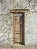 Abandoned House Door — Stock Photo