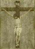 Jesus am kreuz — Stockfoto