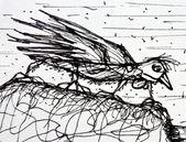 Müde vogel — Stockfoto