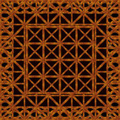 Refined Ornament Wood Artwork — Stock Photo