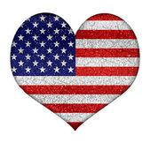 Usa Grunge Heart Shape Flag — Stock Photo