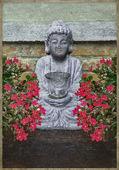 Little Buddha Sculpture Collage — Stock Photo