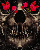 Death and Flowers — Stockfoto
