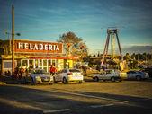 Montevideo City Ice Cream Shop Postal — Stock Photo