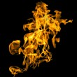 Isolated flame texture in black background. — Stock Photo #50166323