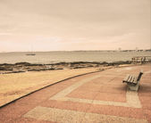 Lonely Boardwalk in Punta del Este — Stock Photo