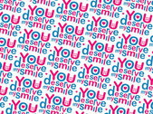 You Deserve my Smile Pattern — Stock fotografie