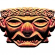 Inca Dark Mask Sculpture — Stock Photo #51389419