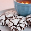 Crinkle cookies — Stock Photo