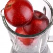 Blender with red apple isolated on white — Stock Photo