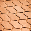 Block pavement on sunset. Texture — Stock Photo
