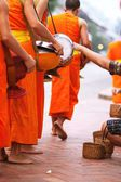 Buddhist monks in Lao — Stock Photo