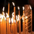 Stock Video: Candles in church