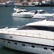 Luxury yacht at the pier. — Stock Video