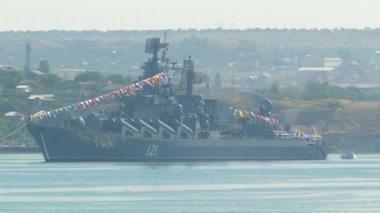 "Guards missile cruiser ""Moscow"" — Stock Video"