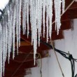 Icicles on a roof — Stock Video #12955832