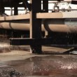 Leak in an industrial water supply. — Stock Video