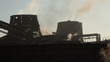 Büyük metalurji tesisi. — Stok video