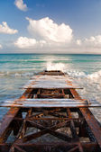 Nicely colored dock — Stock Photo