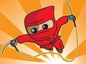 Ninja attack — Stock Vector