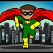 Little Superhero Running - Stock Vector