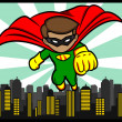 Little Superhero Flying — Vector de stock #21994585