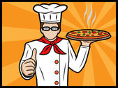 Chef Showing Thumbs Up — Stock Vector